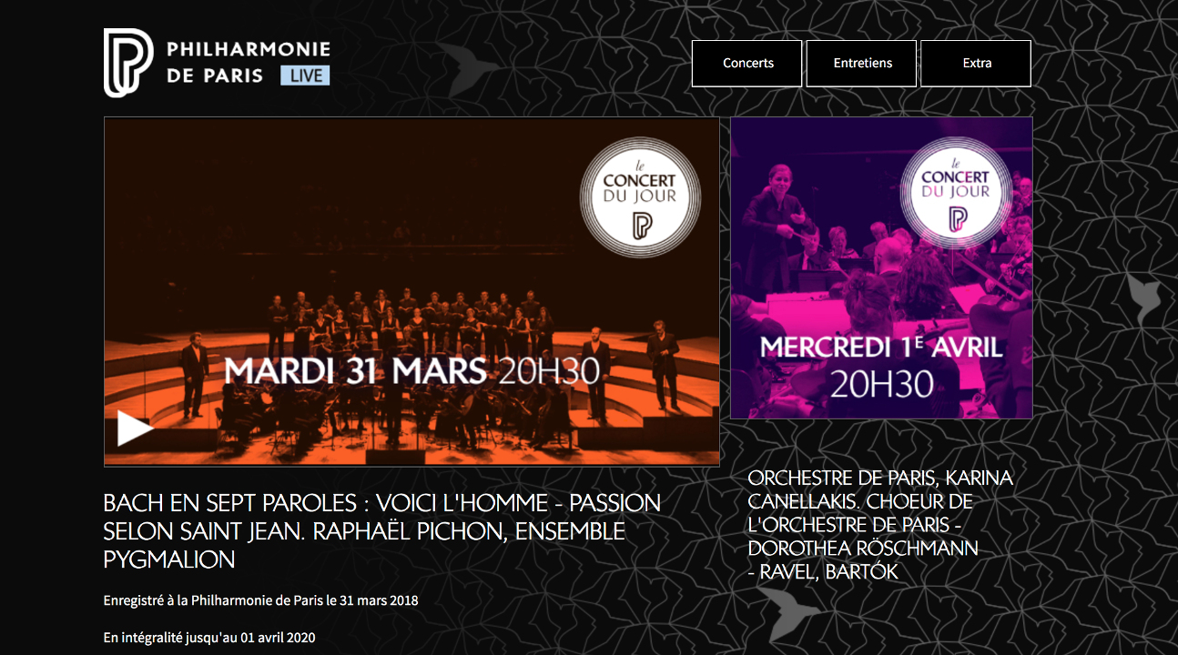 illustration du site Philharmonie de Paris